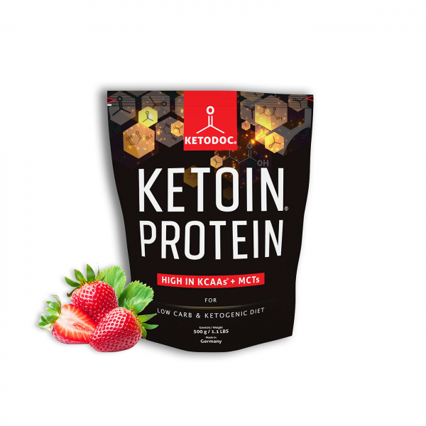 KETOIN® Protein - Eiweißpulver Erdbeere | KETODOC®