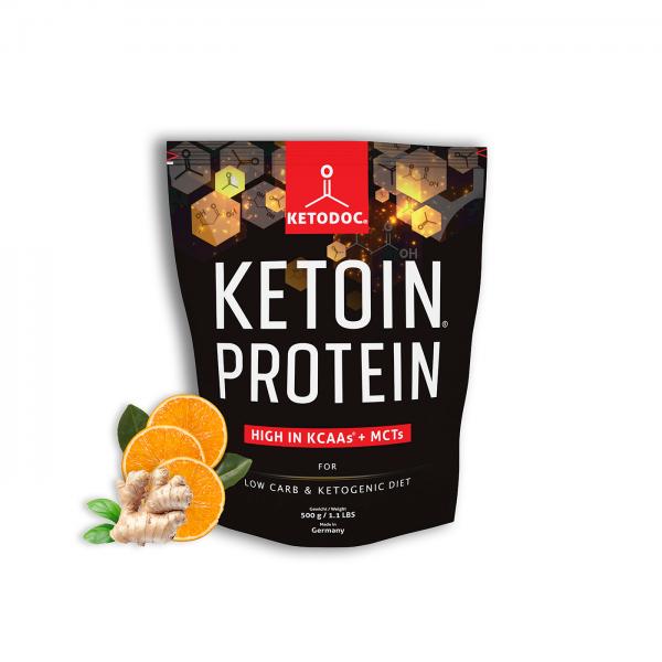 KETOIN® Protein - Eiweißpulver Ingwer-Orange | KETODOC®